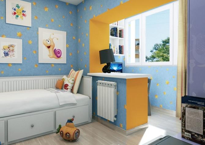 Балкон продолжение детской комнаты
