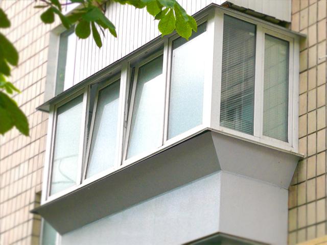Готовый выносной балкон
