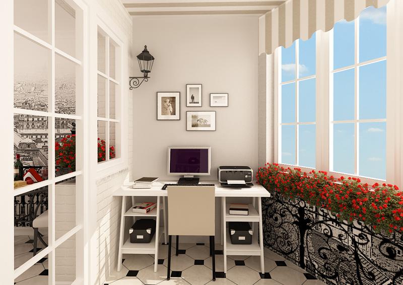 Как сделать на балконе и лоджии рабочий кабинет своими руками