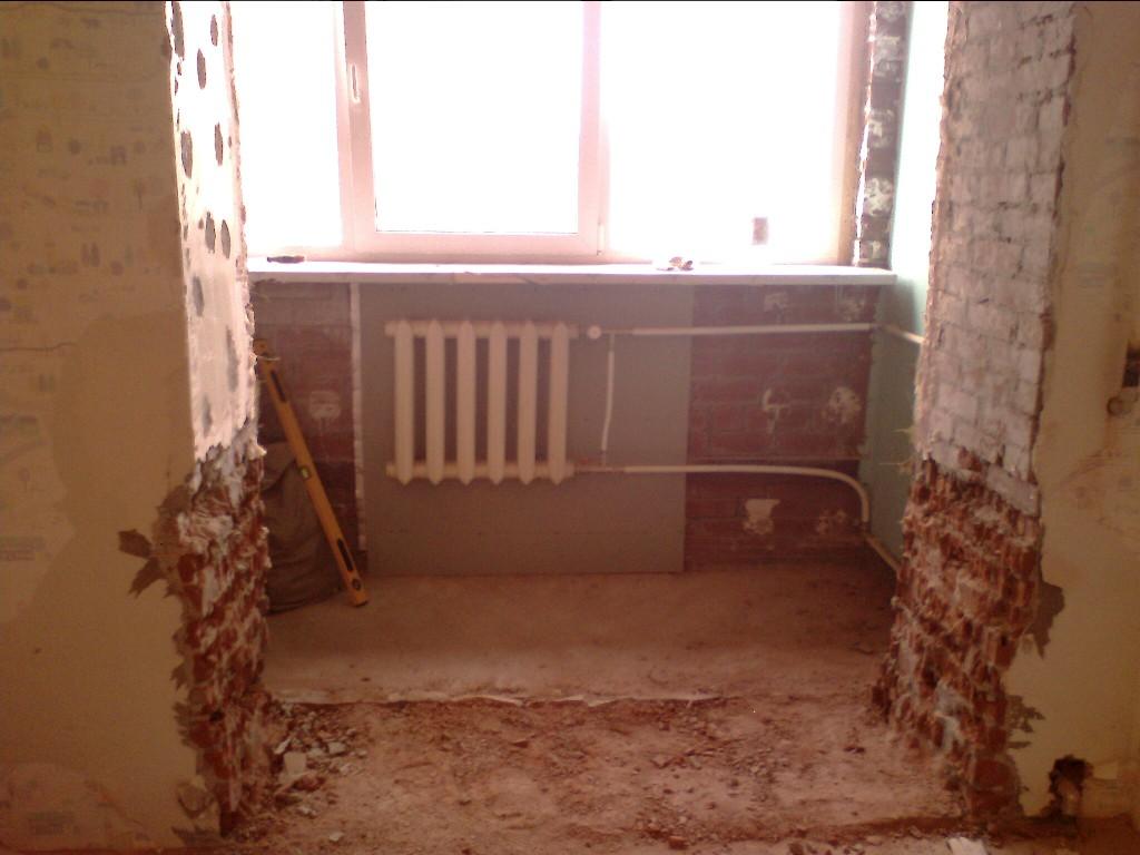 Радиатор на балконе