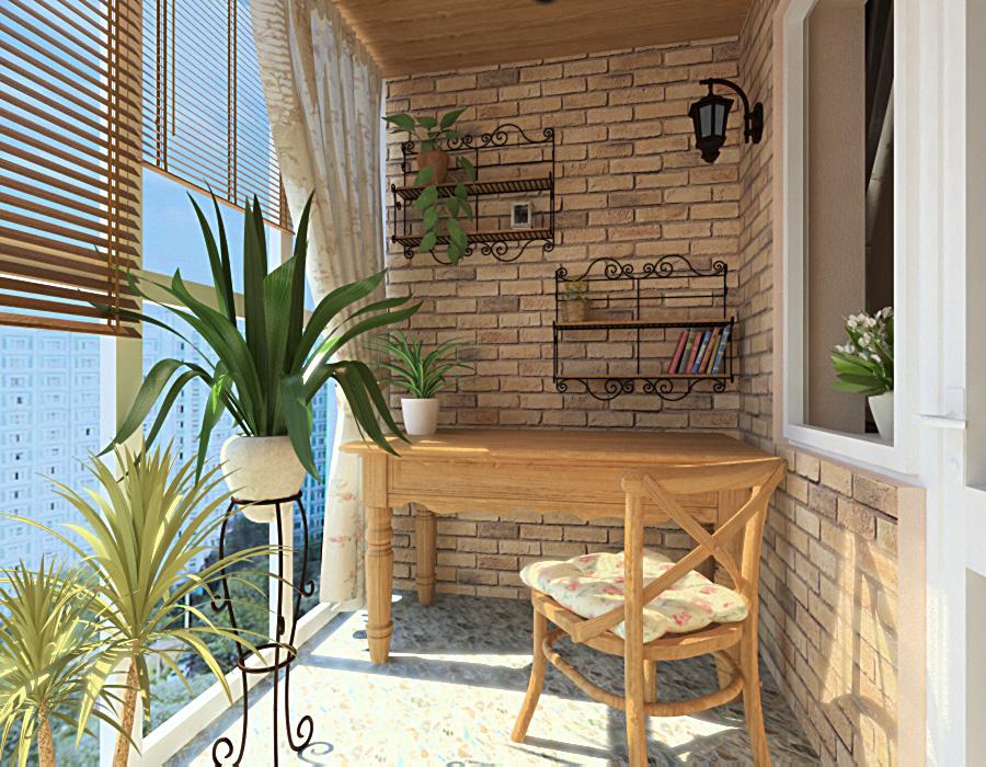 Проект балкона в стиле прованс