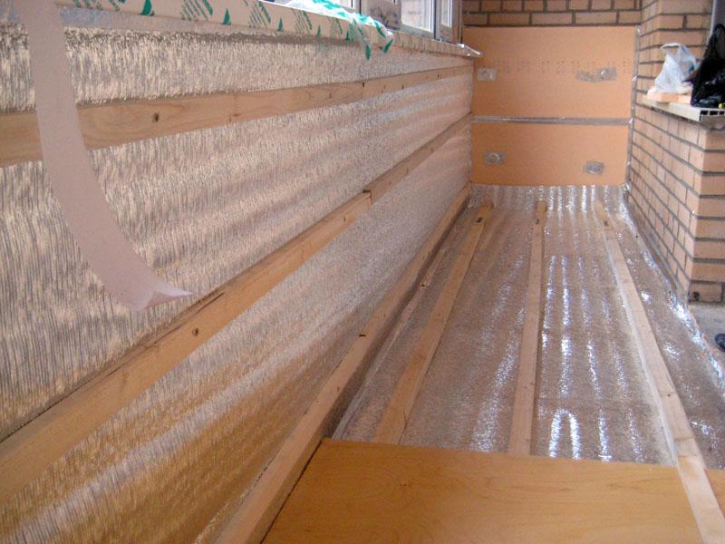 Как самостоятельно сделать теплоизоляцию балкона и лоджии