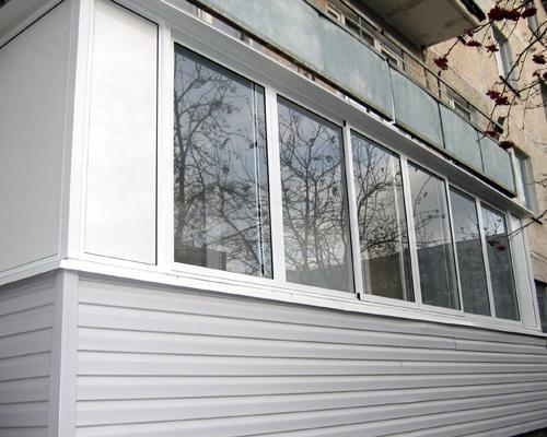 Внешняя отделка балкона пластиком