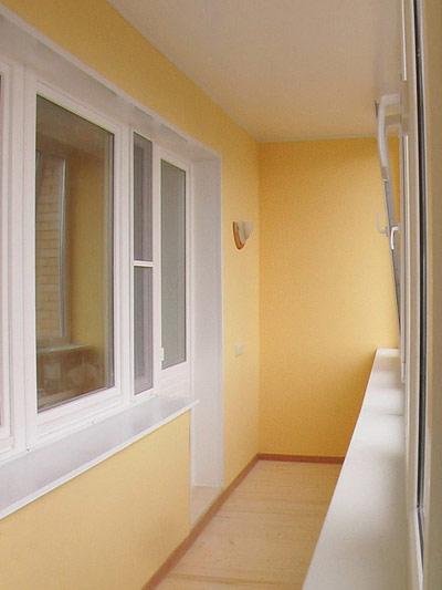 Балкон после покраски