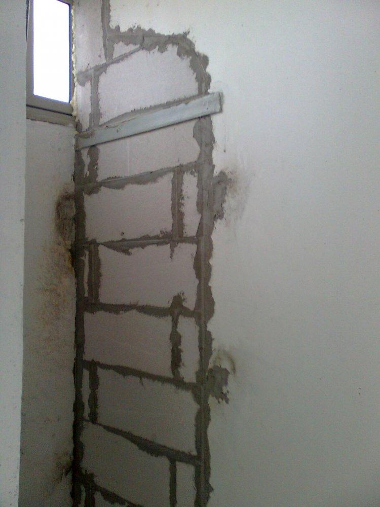 Балконная перегородка из пеноблоков