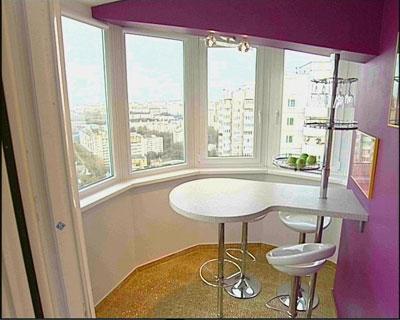 Дизайн балкона и лоджии с барной стойкой
