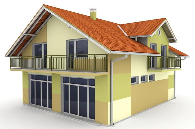 Проект частного дома с балконами