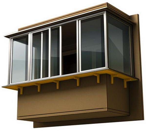 Застеклить балкон с выносом фото.