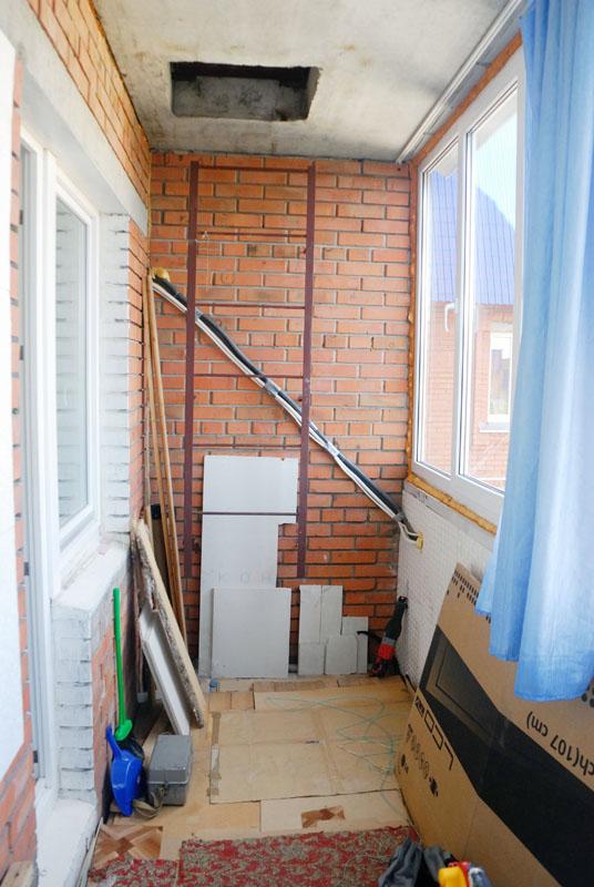 Лестница на балконе как обыграть.