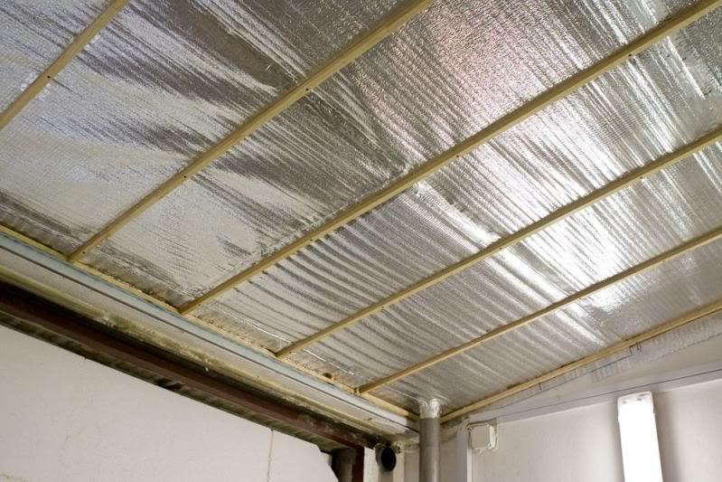 Утепляем потолок пенофолом