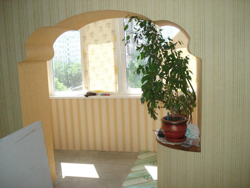 Арка на балкон и лоджию: фото и видео инструкция.