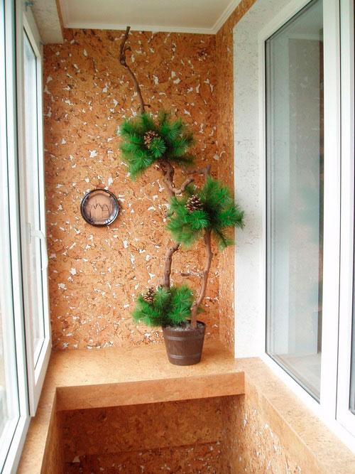 Пробка на балконе