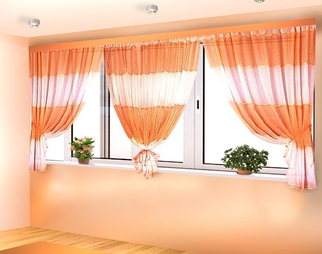 Сшить занавески на балкон