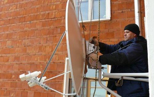 Установка антенны со страховкой