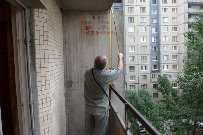 Замер балкона своими руками
