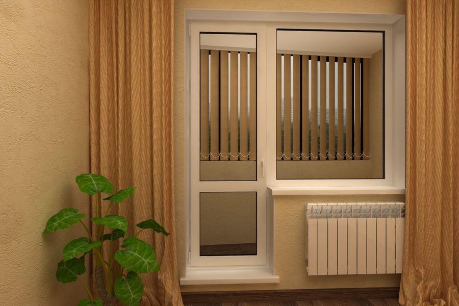Дверь с разделенным стеклопакетом