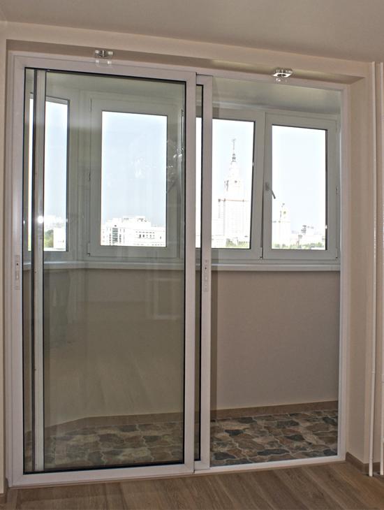 Двери со сплошным стеклопакетом
