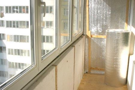 Готовим балкон к пароизоляции