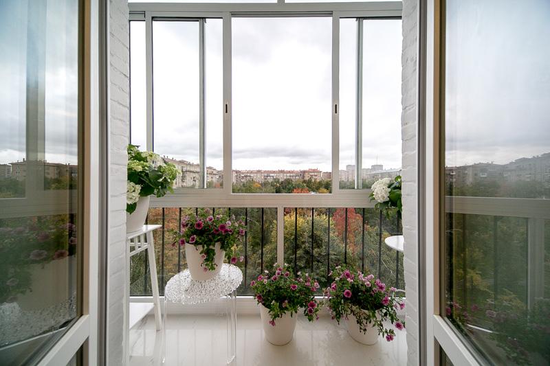 Красивый обзор благодаря французским окнам