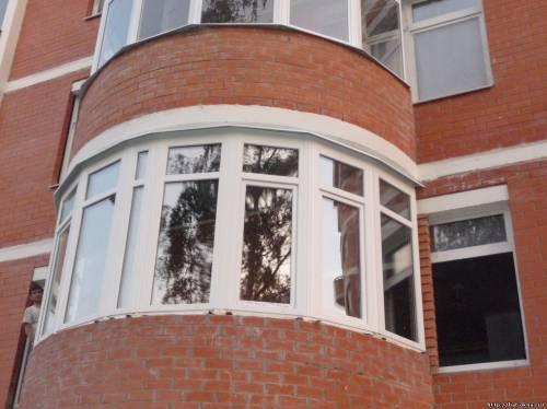 Как сделать остекление круглого балкона