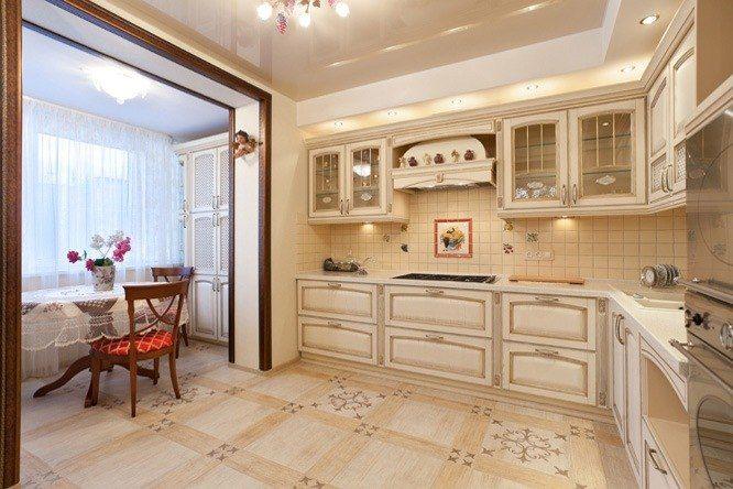 Кухня совмещенная с балконом: дизайн интерьера с фото примерами