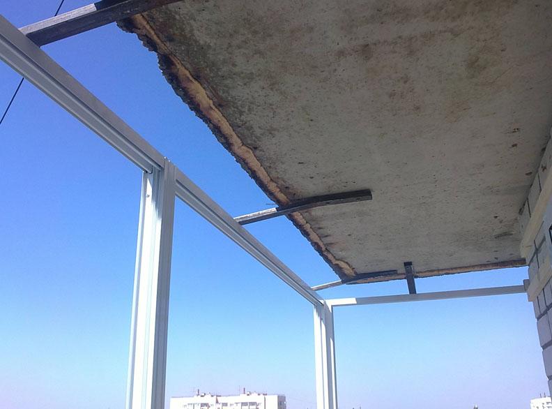 Одна из ошибок при остеклении балкона