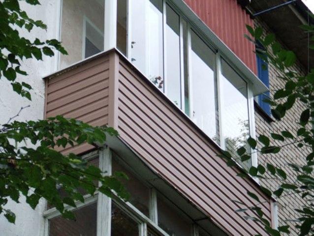 Как самостоятельно сделать отделку балкона и лоджии снаружи