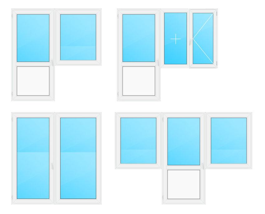 Самые распространенные варианты балконных блоков