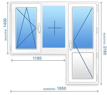 Как рассчитать размеры стандартного балконного блока и площа.
