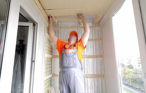 Как утеплить балкон снаружи своими руками пошаговое.