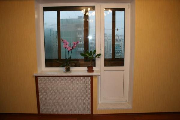 Замена стеклопакетов в балконной двери и окне