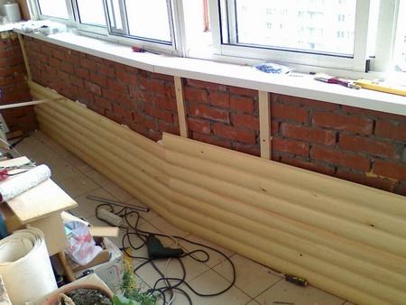 Процесс монтажа блок хауса на балконе