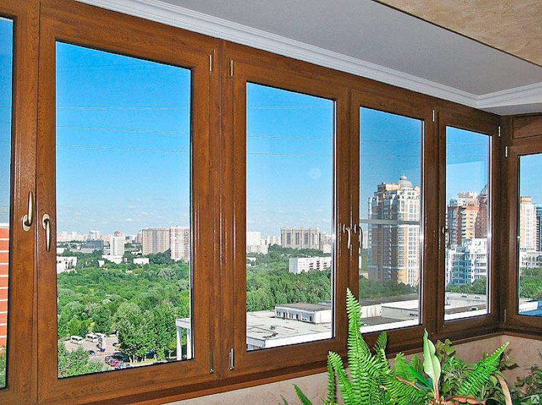 Дорогие стеклопакеты на балконе