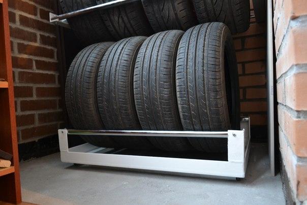 Хранение шин на балконе