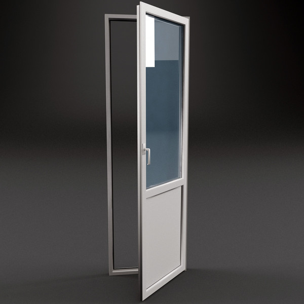 Типовая балконная пластиковая дверь