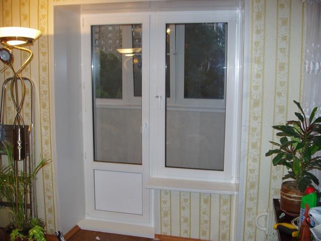 Устройство балконной пластиковой двери